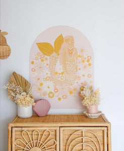 Spring Mermaid Arch Decal - Petite