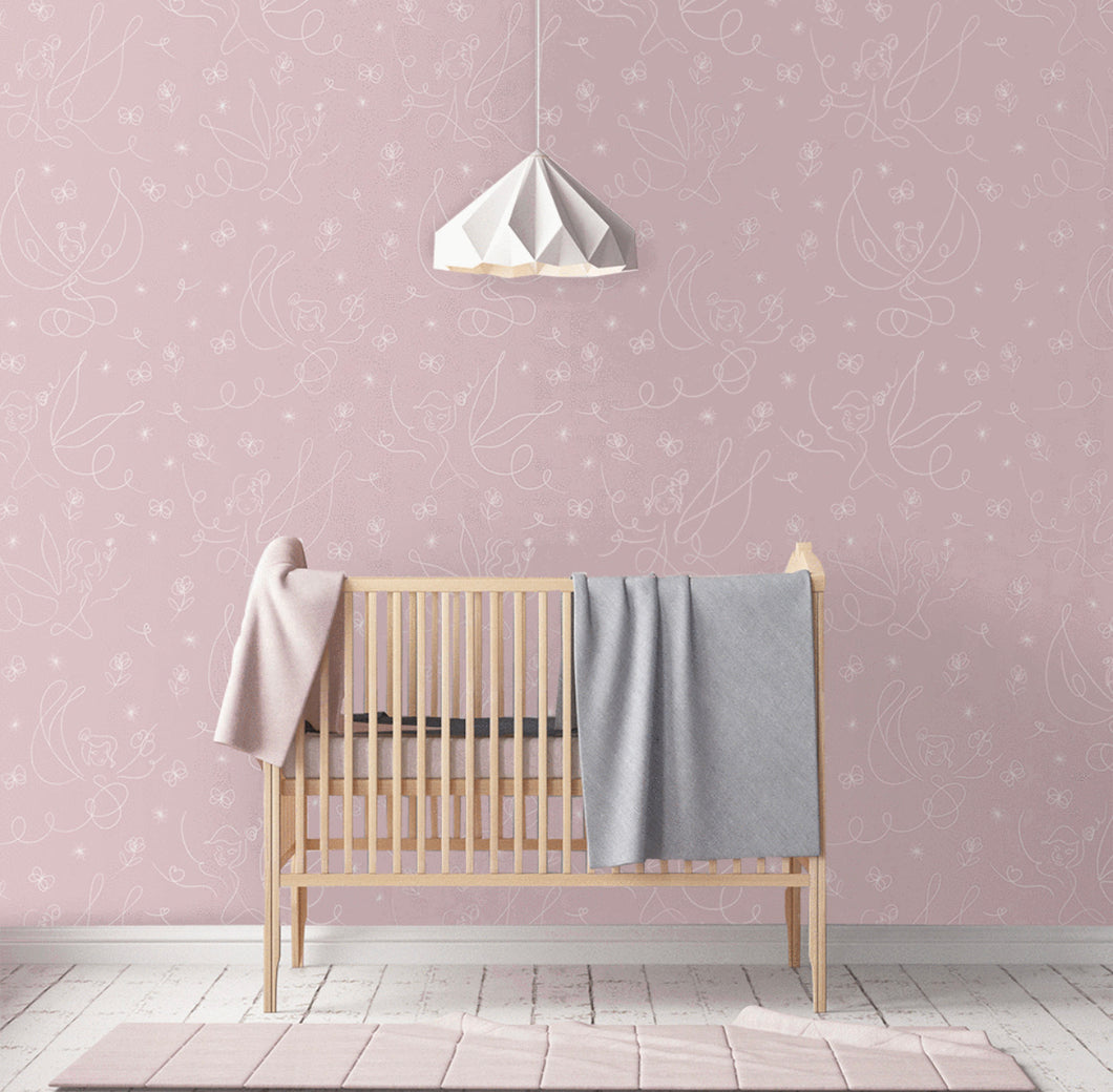 Eve's Fairy Garden (several colourways) | Removable PhotoTex Wallpaper