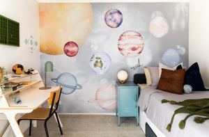 Solar System Smoke | Removable PhotoTex Wallpaper