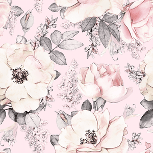 Peony Garden Pink | Removable PhotoTex Wallpaper