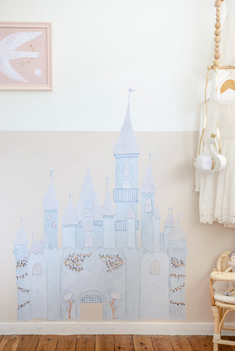 Fairytale Castle Decal Ice Blue