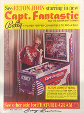 Load image into Gallery viewer, Captain Fantastic Pinball Flyer Signed