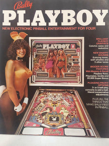 Bally Playboy Pinball Flyer Signed