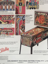 Load image into Gallery viewer, Bally Playboy Pinball Flyer Signed