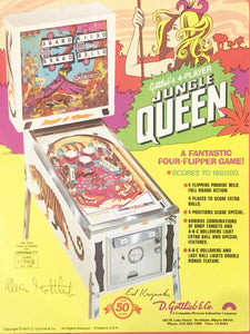 Gottlieb's Jungle Queen Pinball Flyer