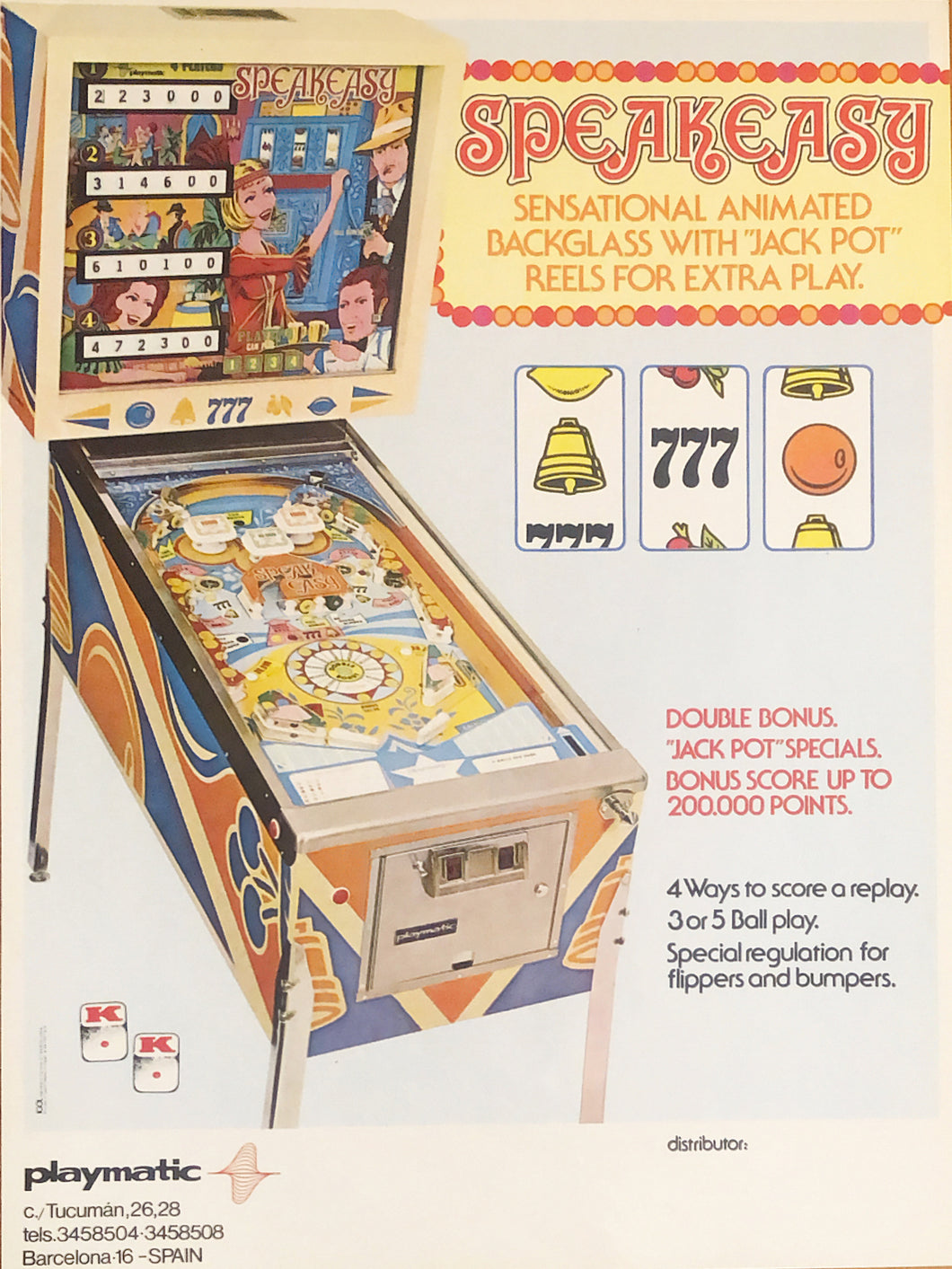 Speak Easy Pinball Flyer