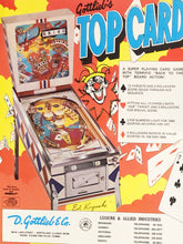 Load image into Gallery viewer, Gottlieb's Top Card Pinball Flyer