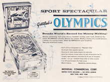Load image into Gallery viewer, Gottlieb's Olympics Pinball Flyer Signed