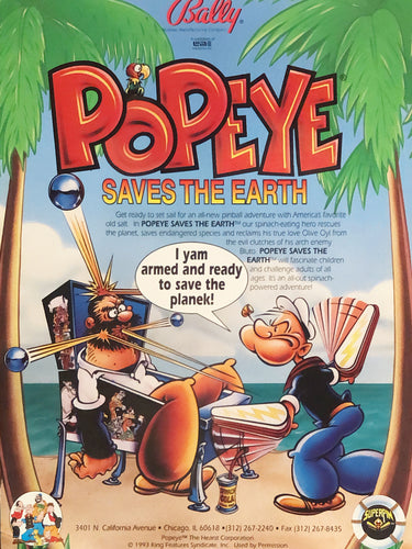 Bally PopEye Flyer