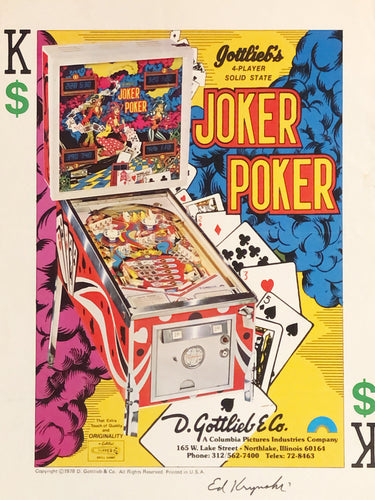 Gottlieb's Joker Poker Signed