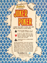 Load image into Gallery viewer, Gottlieb's Joker Poker Signed