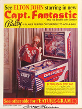 Load image into Gallery viewer, Bally Captain Fantastic Signed