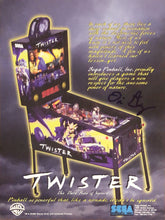Load image into Gallery viewer, Sega Twister Pinball Flyer