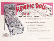 Load image into Gallery viewer, Gottlieb's Kewpie Doll Signed Flyer