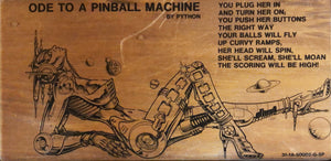 Ode To A Pinball Machine - Plastic