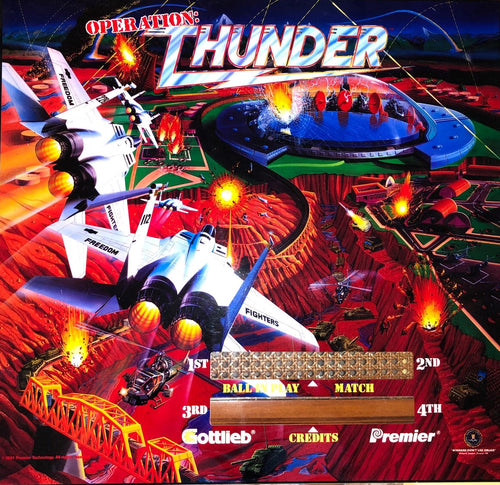 Operation: Thunder Pinball Translite