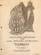Load image into Gallery viewer, Abra Da Cabra Complete Pinball Manual