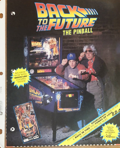 Back to the Future Pinball Flyer