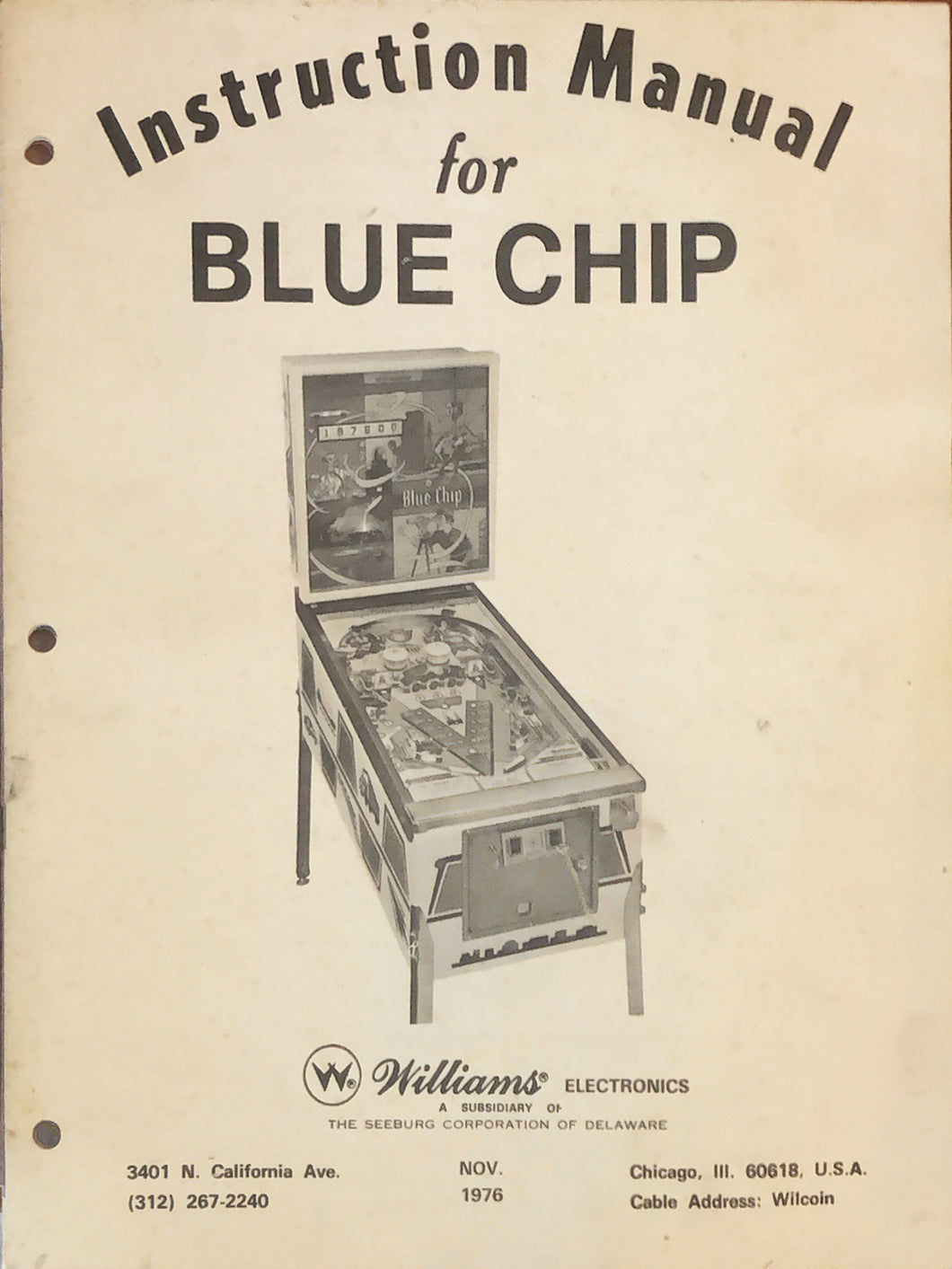 Blue Chip Complete Pinball Manual