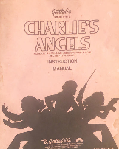Charlies Angel's Pinball Instruction Manual