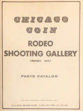 Load image into Gallery viewer, Chicago Coin Rodeo Shooting Gallery Schematics + Product Catalog