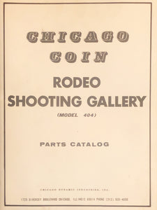 Chicago Coin Rodeo Shooting Gallery Schematics + Product Catalog