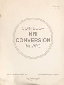 Coin Door NRI Conversion for WPC