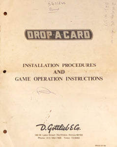 Drop A Card Pinball  Manual