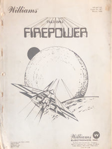 FirePower Pinball  Instruction Only