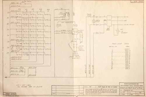Stern Cabinet and Front Door Wiring Schematics - General