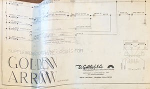 Golden Arrow Pinball Schematics Only