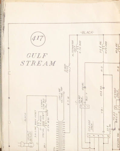 Gulf Stream Pinball Schematic Only