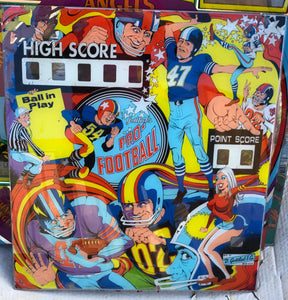Pro-Football Pinball Backglass