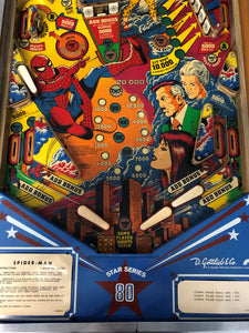 Gottlieb The Amazing Spiderman Pinball Machine