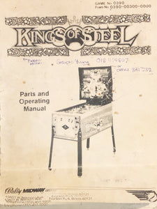 Kings Of Steel Pinball Operating Manual