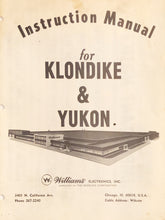 Load image into Gallery viewer, Klondike & Yukon Complete Pinball Manual