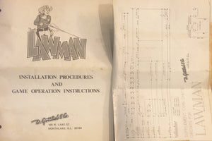 Lawman Schematic + Instruction Pinball Manual