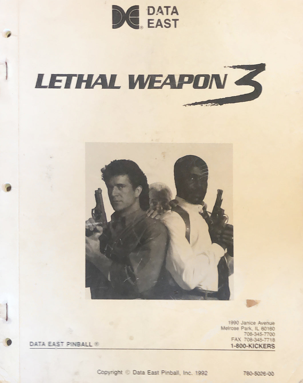 Leathal Weapon 3 Complete Pinball Book