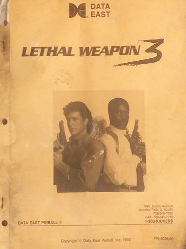 Lethal Weapon 3 Complete Pinball  Book