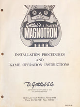 Load image into Gallery viewer, Magnotron Complete Pinball Manual