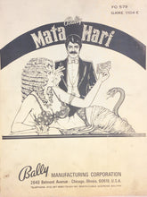 Load image into Gallery viewer, Mata-Hari-Complete Pinball Manual