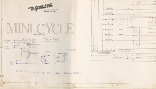 Mini Cycle Pinball  Schematic Only