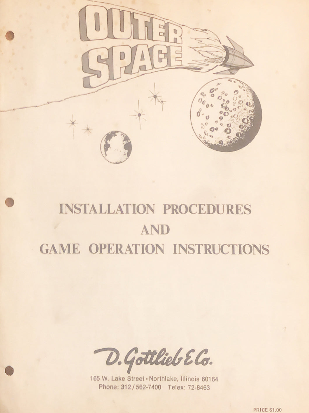 Outer Space Pinball Manual + Schematic
