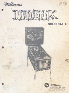 Phoenix Pinball Manual and Scorecards Only