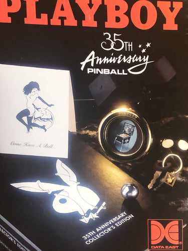 Playboy 35th Anniversary Pinball Flyer