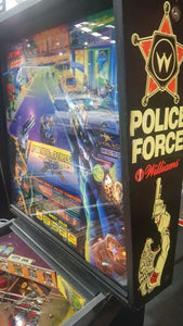 Williams Police Force Pinball Machine
