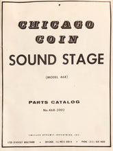 Load image into Gallery viewer, Chicago Coin Pinball Sound Stage Manual