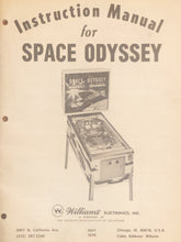 Load image into Gallery viewer, Space Odyssey Pinball Instructions