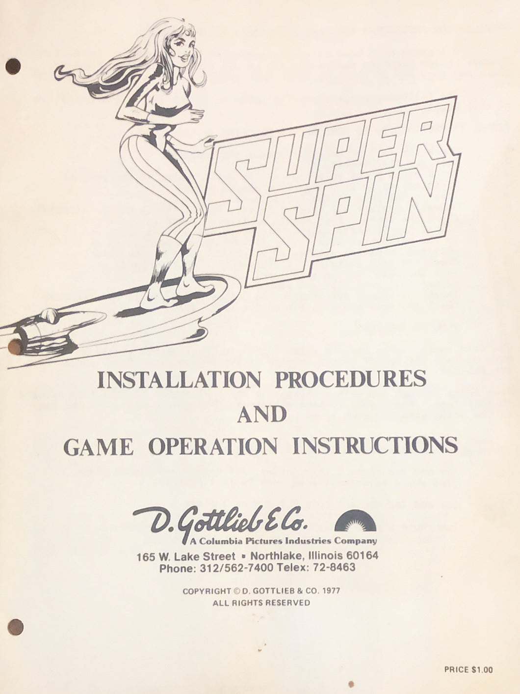 Super Spin Complete Pinball Manual