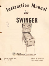Load image into Gallery viewer, Swinger Complete Pinball Manual